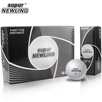 12pcs/packs Golf Balls Distance White 1 BOX One Dozen Three Piece Super Newline Soft Feel Long 3-layers 80 - 90 new with package