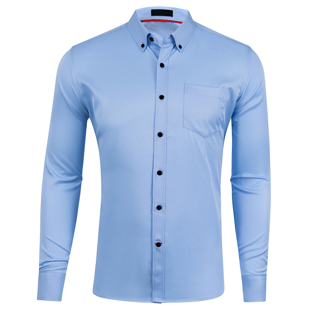 2018 autumn and winter new beauty code men's clothing men's thick stretch fabric business dress bottoming shirt
