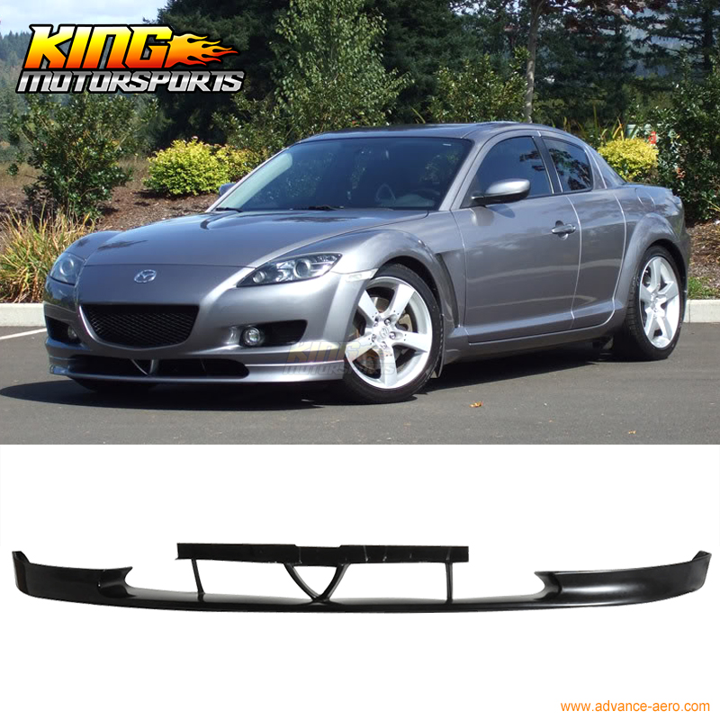 FIT FOR 04 05 06 07 MAZDA RX8 OE STYLE FRONT BUMPER LIP SPOILER BODY KIT JDM PU fit 05 06 07 08 09 10 11 12 13 chevy corvette c6 base front bumper lip splitter spoiler pu