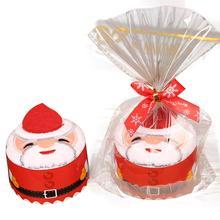 Горячее предложение! Распродажа! Полотенце Санта Клаус Снеговик Рождественская елка Торт Моделирование Хлопок полотенце творческие подарки Dorpshipping may23