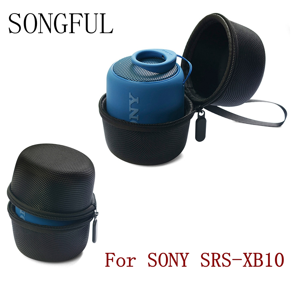 Black Bluetooth Speaker Column Bag For Sony SRS-XB10/Sony XB10/Sony SRS XB1 Nylon Zipper Outdoor Travel Case With Hand Strap