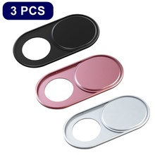 Universal Ultra Thin Metal WebCam Cover Shutter Magnet Slide