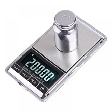 DHL 200PCS Tool Portable Gram Pocket Balance Device Balance Jewelry Scale Weight Digital Scale for 200g X 0.01g(China)