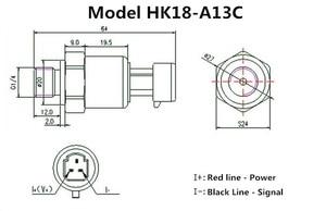 Датчик давления G1/4 4-20mA 0-1Mpa или 0-1.6Mpa датчик давления
