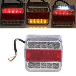 QILEJVS DC 12V 14 LED Truck Car Trailer Boat Caravan Rear Tail Light Stop Lamp Taillight