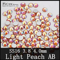 Buy for Girls SS16 12 Facets Light Peach AB Non Hotfix Machine Cut Rhinestones For Nail Decorations