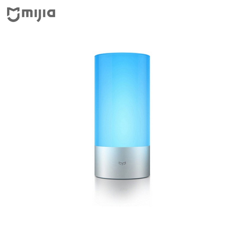 Original Xiaomi Yeelight Smart Lights Indoor Bed Bedside Lamp 16 Million RGB Lights Touch Control WiFi Bluetooth For Mijia APP in stock original xiaomi yeelight smart ceiling light lamp remote app wifi bluetooth control smart led colorfull ip60 dustproof