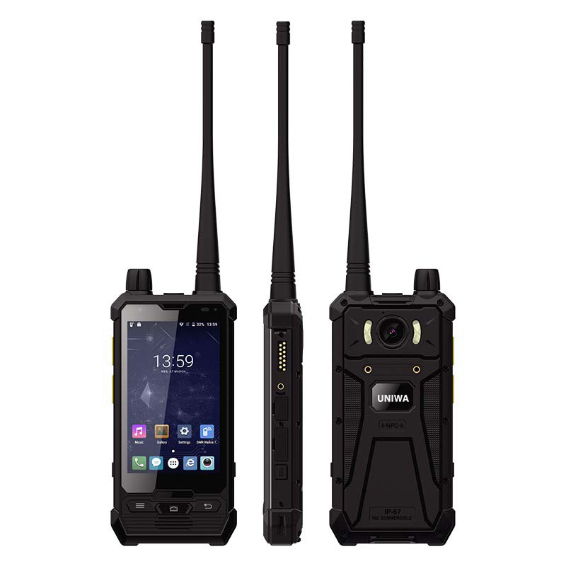 UNIWA P1 3G 4G Walkie Talkie Smartphone MT6737T Quad CPU IP67 Waterproof  Support PPT POC 7.6V 2850mAh Battery 3GB RAM 32GB R0MUNIWA P1 3G 4G Walkie Talkie Smartphone MT6737T Quad CPU IP67 Waterproof  Support PPT POC 7.6V 2850mAh Battery 3GB RAM 32GB R0M