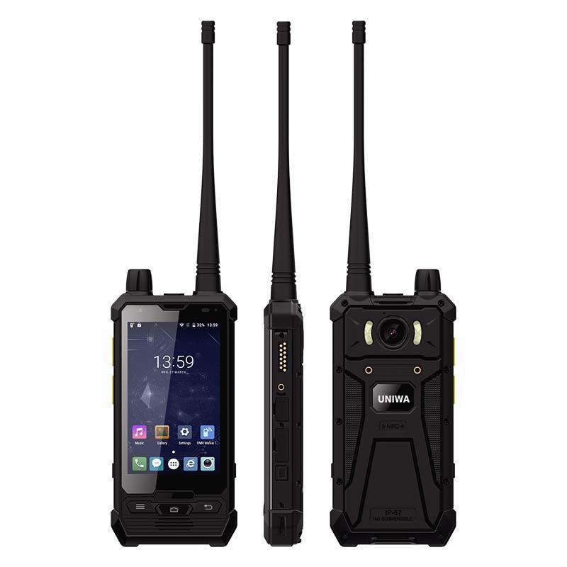 UNIWA P1 3G 4G Walkie Talkie Smartphone MT6737T Quad CPU IP67 Waterproof  Support PPT POC 7.6V 2850mAh Battery 3GB RAM 32GB R0M