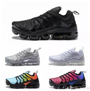 size 40 326e7 ebd13 Classic Outdoor Run Shoes Men Black White Sport Shock Sneakers AIR VAPORMAX  PLUS