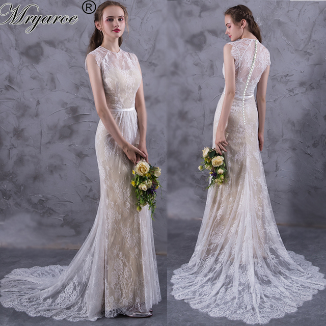 Aliexpress Com Buy Delicate Lace Bohemian Wedding Dresses Boho