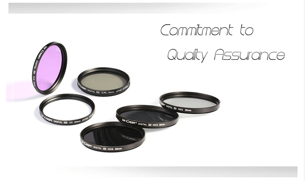 UV CPL FLD ND2 ND4 ND8 Lens Camera Filter Kit(52 58 62 67 72 77mm)+Lens Hood+Lens Cap+Cloth For Canon for Nikon for Sony etc. 4
