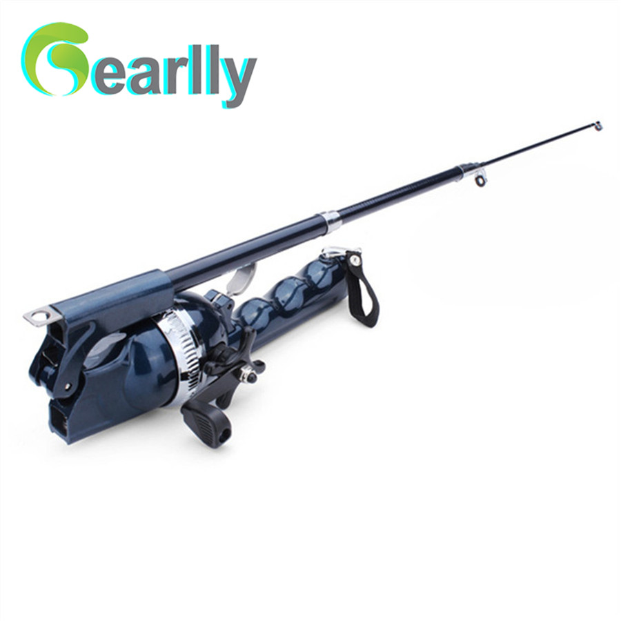 Folding mini rod folding rod telescopic pole portable for Folding fishing rod