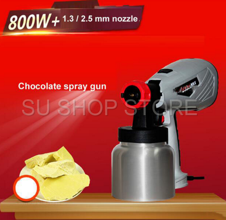 1PC commercial 800ML 800W electric spray gun removable high pressure cake chocolate tool with adjustable nozzle 1.3mm/ 2.5mm image