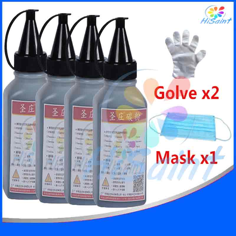 HOT[Hisaint] 4BK Toner Powder For Brother For TN115/135/175/155/195 For Brother HL-4040CN/4050CDN Cartridge Powder Panic buying