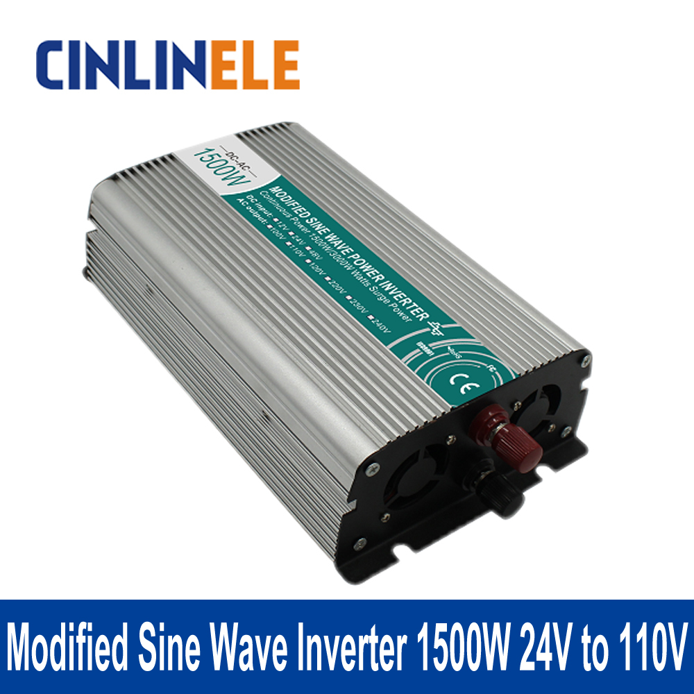 ФОТО Shine Series Modified Sine Wave Inverter 1500W CLM1500A-241 DC 24V to AC 110V 1500W Surge Power 3000W