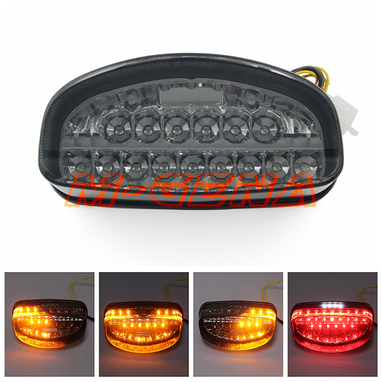 Motorcycle LED Rear Turn Signal Tail Stop Light Lamps Integrated For CBR1100XX CBR 1100 XX Hornet 250 600 1997 1998 97 98