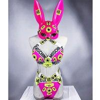 bikini gogo dancer costume Sexy Bra Shorts Set Headwear Nightclub Bar DJ Lady Singer Costume Dance Team Performance rave clothes