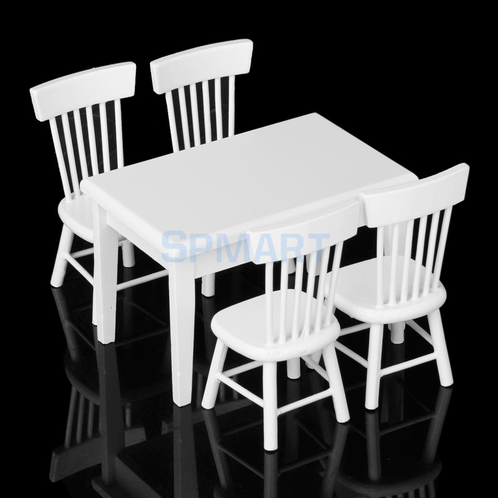 nuevo unids silla de mesa de comedor conjunto modelo dollhouse miniatura muebles