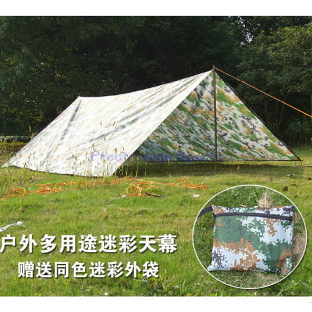 Large Waterproof Army Military C&ing Tarp Awning Trail Tent Shelter Rain Cover & Large Waterproof Army Military Camping Tarp Awning Trail Tent ...
