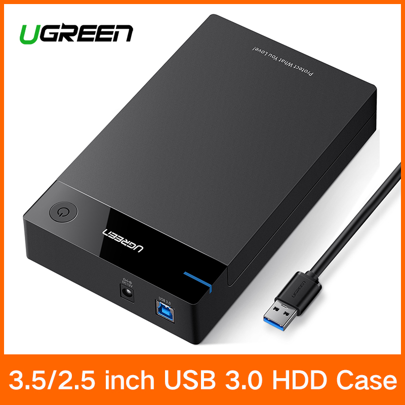 Ugreen 3.5 inch HDD Case SSD Adapter SATA to USB 3.0 for Hard Disk Drive Box 1TB 2TB 2.5 External Storage HDD Enclosure ugreen hdd enclosure sata to usb 3 0 hdd case tool free for 7 9 5mm 2 5 inch sata ssd up to 6tb hard disk box external hdd case