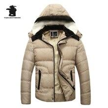 2016 Новые мужские Зимние Пальто С Капюшоном Утолщенной Стеганые Куртки Мужчины Дизайнер Повседневная Плюс Размер Зимняя Куртка D8F16