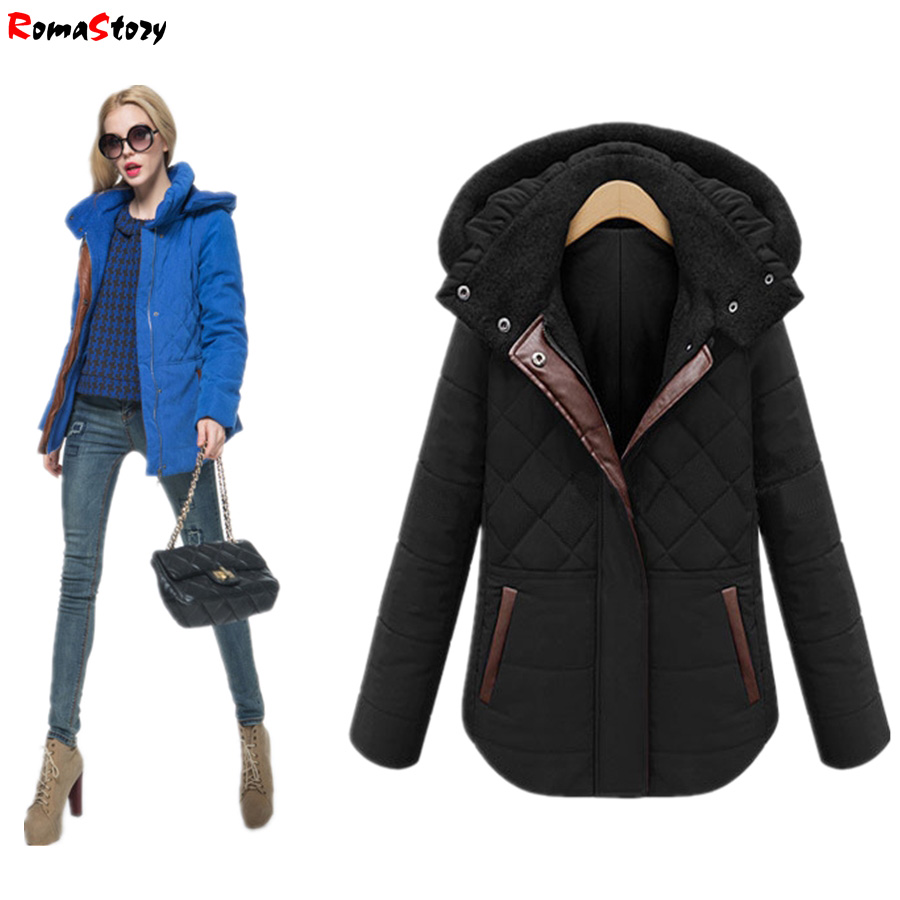 European Grand Prix 2017 new winter coat female short Design Slim fashion hooded jacket plus thick velvet padded Outwear Z2395 motul kart grand prix 2 t
