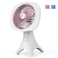 DMWD 2018 Newest Chargeable USB Cooling Fan Desktop Air Humidifier Arom Diffuser Silent Mini Electric Fan Water Fog Sprayer DC5V
