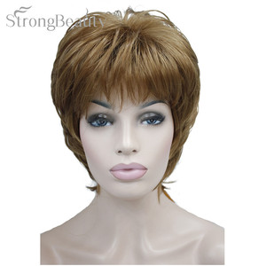 Image 1 - Strong Beauty Female Wigs Synthetic Short Body Wave Blonde Silver Brown Wig For Black Women