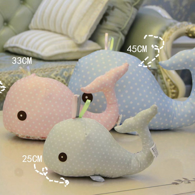 Cute cloth dolphin doll multi color whale plush toy children s gifts wholesale scatter cushion
