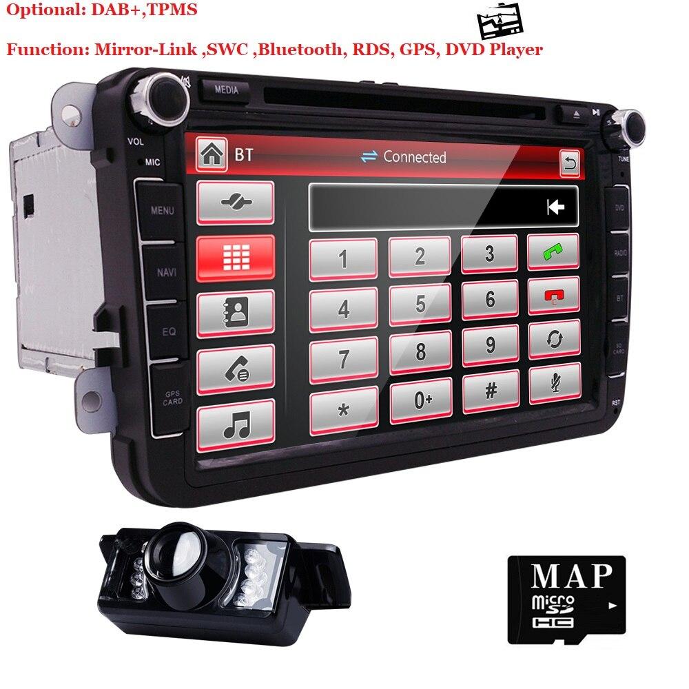 8 дюймов 2 Din мультимедийные автомобильный DVD gps навигации для VW GOLF 6 новых поло New Bora J ETTA b6 PASSAT SKODA 3g USB BT FM RDS карта DAB