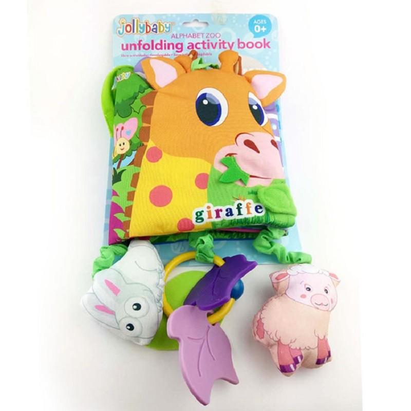 Infant Activity Book Cartoon Animal Soft Baby Educational Toy Cloth Book Plush Animal Story Intelligence Developing Toy KF030 12