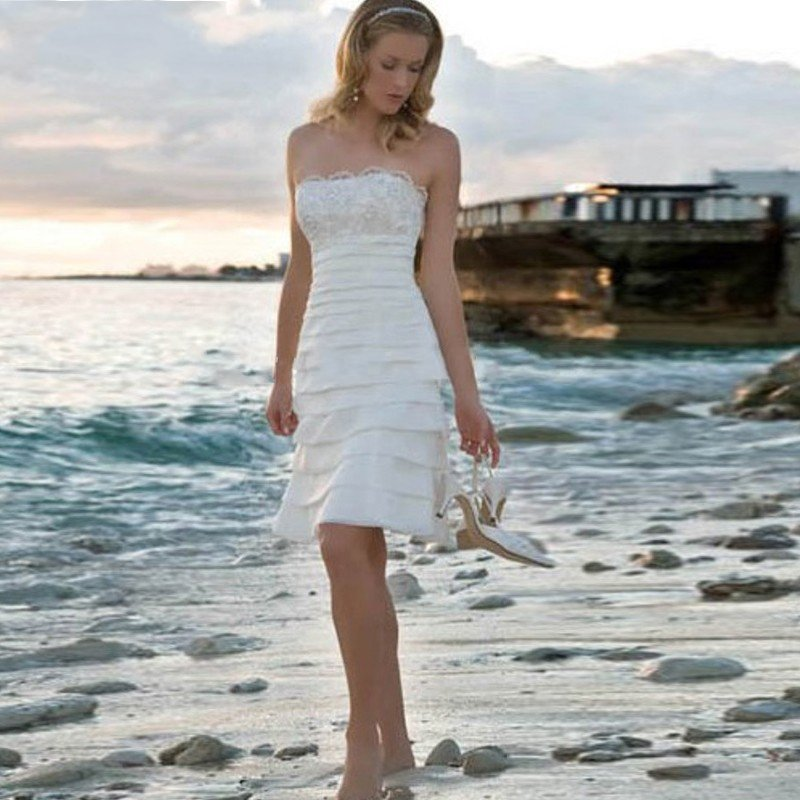Casual Short Beach Wedding Dresses Promotion-Shop for Promotional ...