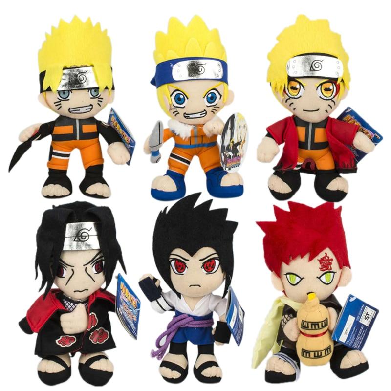 7 Styles 20 CM Naruto Plush Uzumaki Naruto Uchiha Sasuke Itachi Hatake Kakashi Gaara Toys For Children