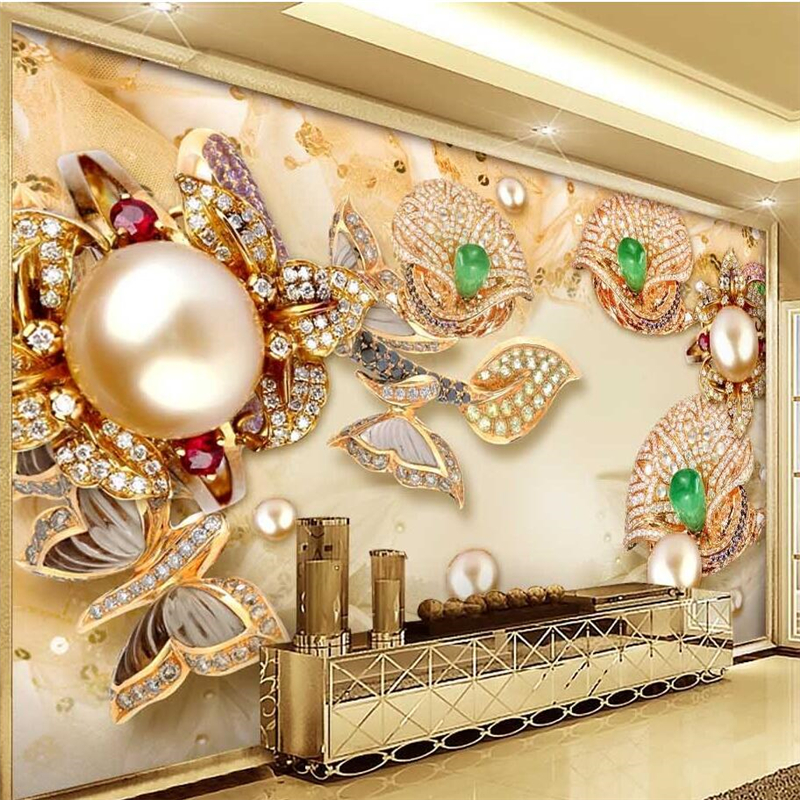 Popular bedroom wall papers buy cheap bedroom wall papers for Mural jewellery