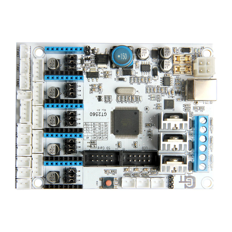 New Version GT2560 mainboard 3D printer controller board Power Than Mega2560+Ultimaker and Ramps 1.4+Mega2560 3d printer parts ultimaker v2 control board ultimaker 2 generations board interface board with lcd genuine spot free shipping