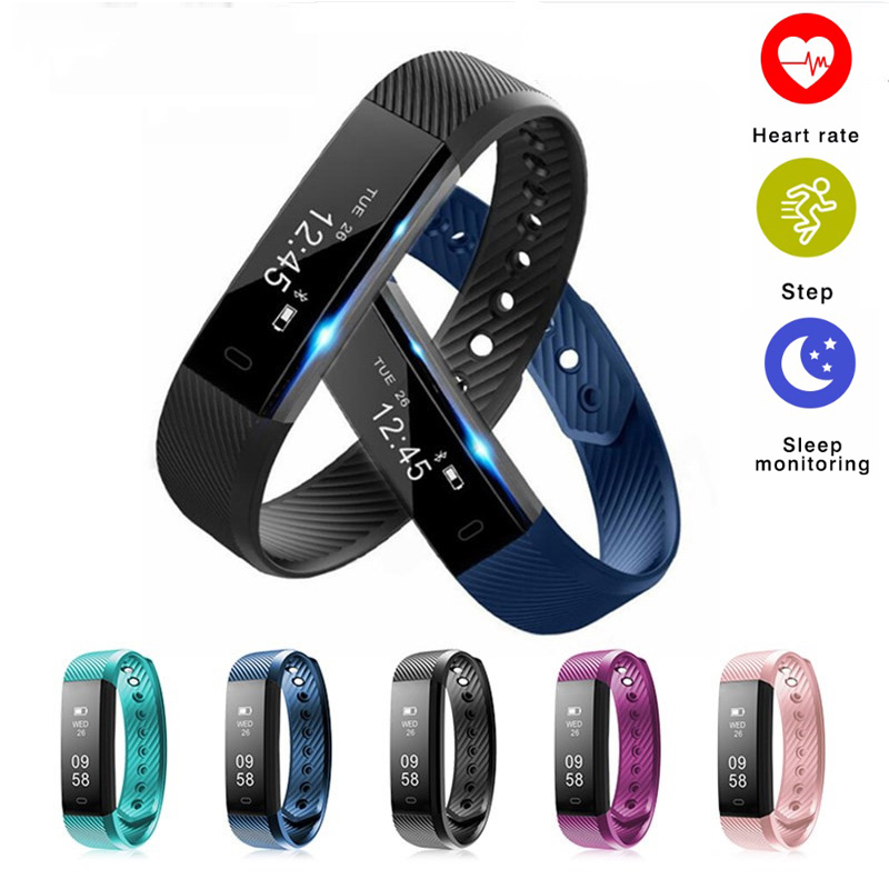 ID115 HR Smart Band Heart Rate Monitor Fitness Tracker Bracelet Pedometer Waterproof Wristband for Android IOS Pk xiaomi mi Band