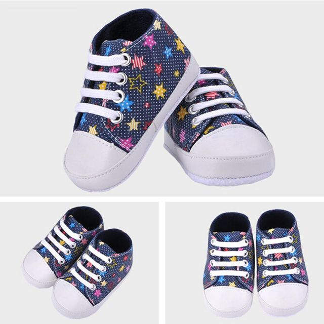 Infants Baby Boy Girl Soft Sole Crib Shoes Casual Lace Prewalkers Sneaker 0-18M X16