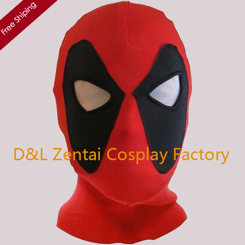 Free Shipping DHL Koveinc Halloween Deadpool Mask Cosplay Costume Lycra Spandex Mask Red Deadpool Mask White Eyes MK-04