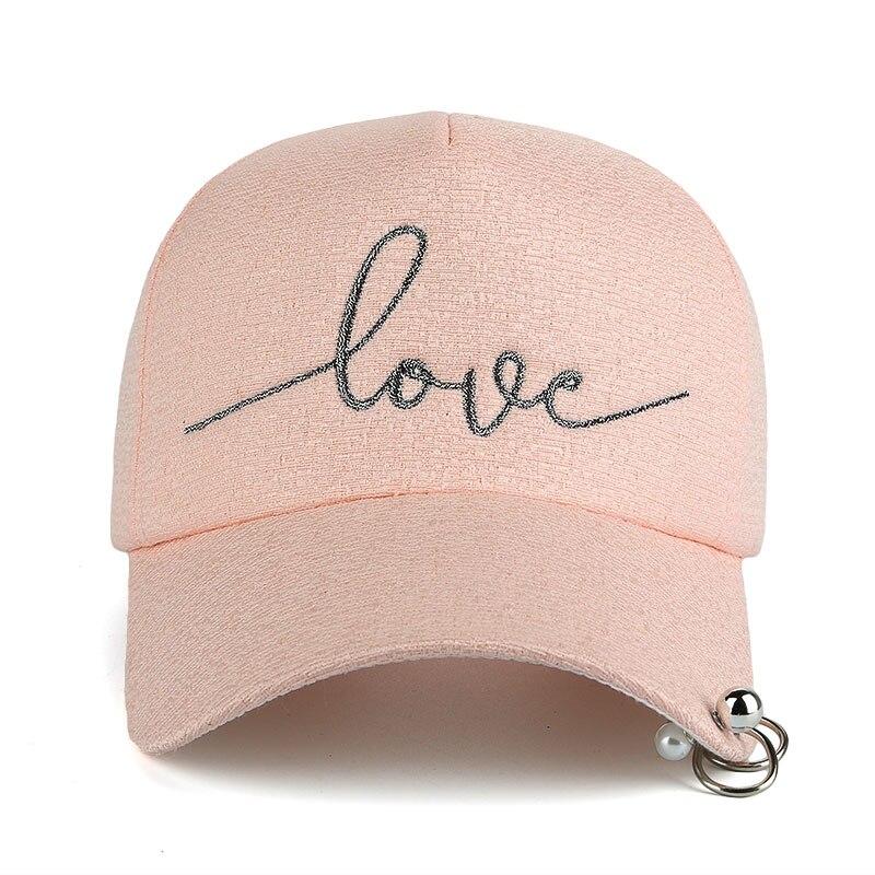 JOYMAY New arrival high quality snapback cap iron hoop bead on visor love embroidery hat for women baseball cap B421 1