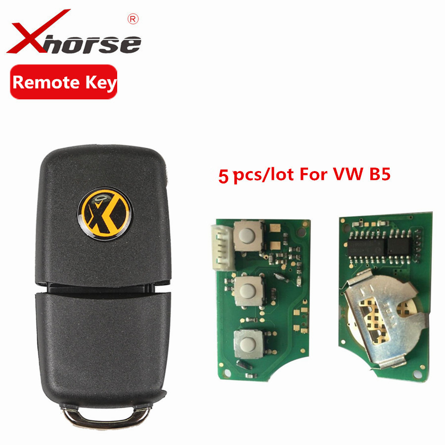 X001-01 Xhorse Remote Key 3 Buttons Board For B5 Type VVDI2 Mini Remote Programmer Remote Chip Key Program 5pcs/lot