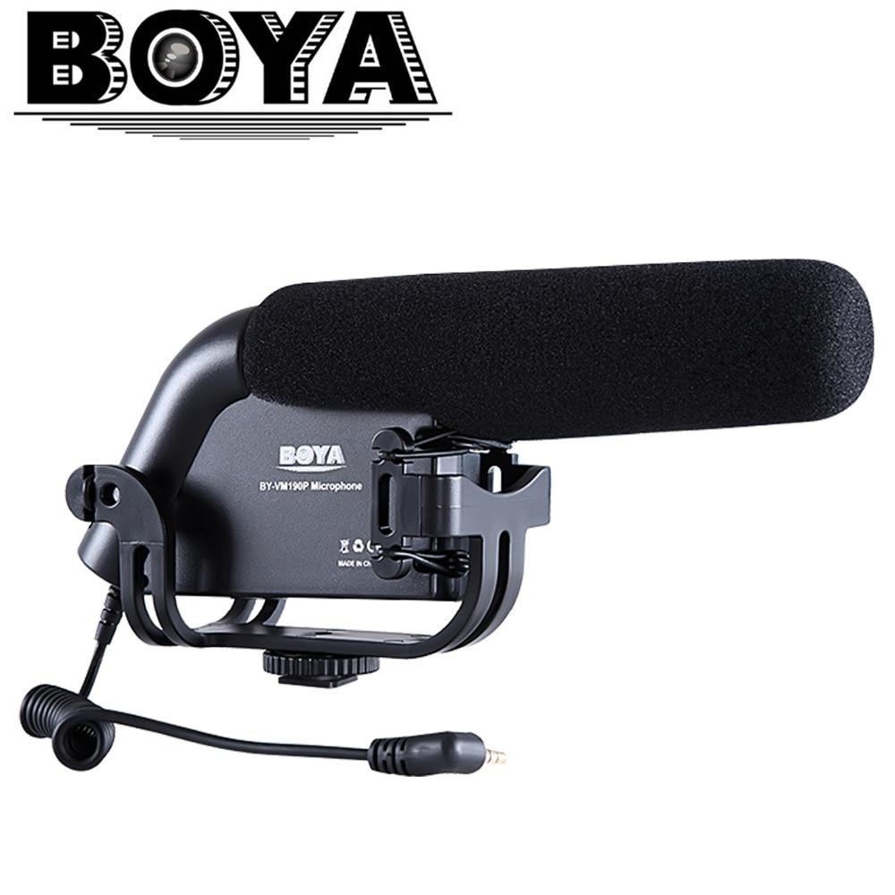 BOYA Electronic 2016 Nový černý BY-VM190P Kamerový mikrofon pro fotoaparáty Gopro Canon Nikon Sony Kamery Mini Videokamery