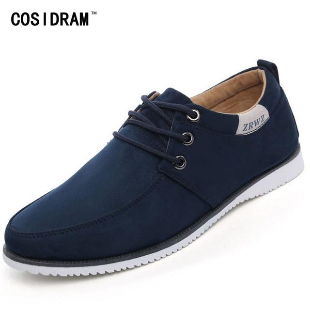 7efe73094d Nuevo 2015 Otoño Hombres Zapatos Casuales Masculinos Calzado Para Hombres  Planos de Cuero de Gamuza hombres