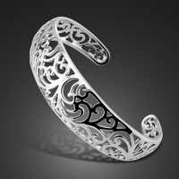 New fashion hollow pattern Elaborate. Hot sell solids 925 sterling silver Adjustable size Bracelet for women. jewelry wholesale