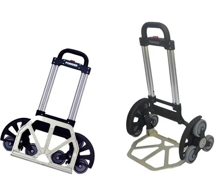 Aluminum Alloy Portable Trolley High Quality Foldable Shopping Cart Six Wheel Climbing Cart Telescopic Rods Luggage Cart