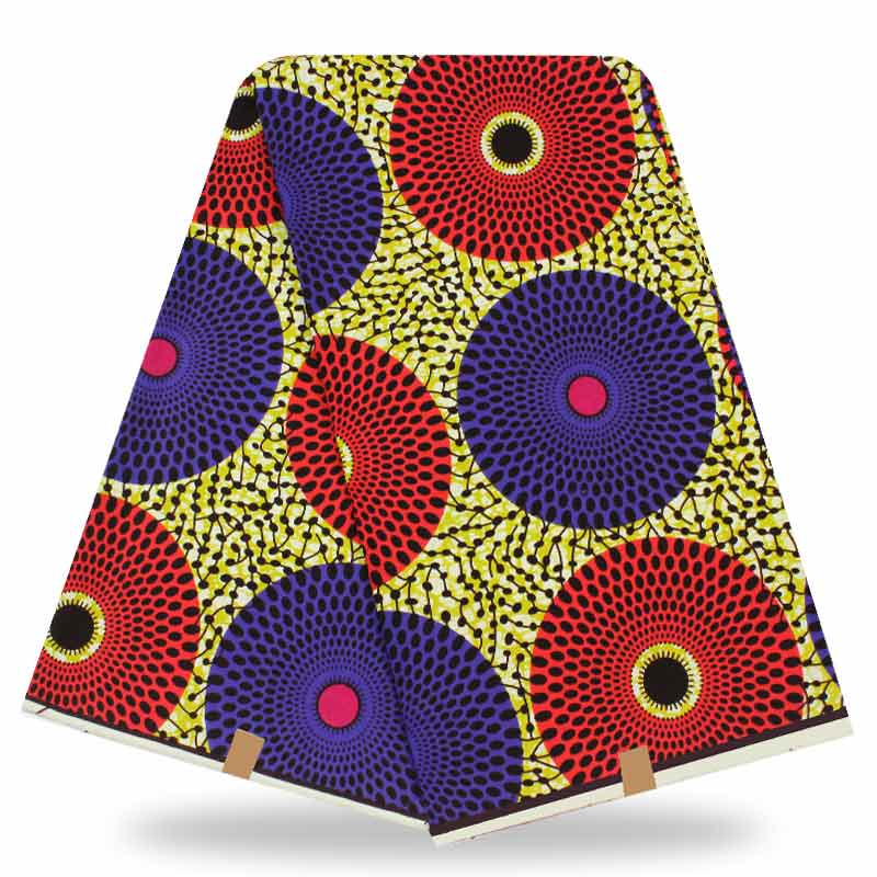 Teal ankara stoff afrikanisches reales wachs drucken mit orange hut ...