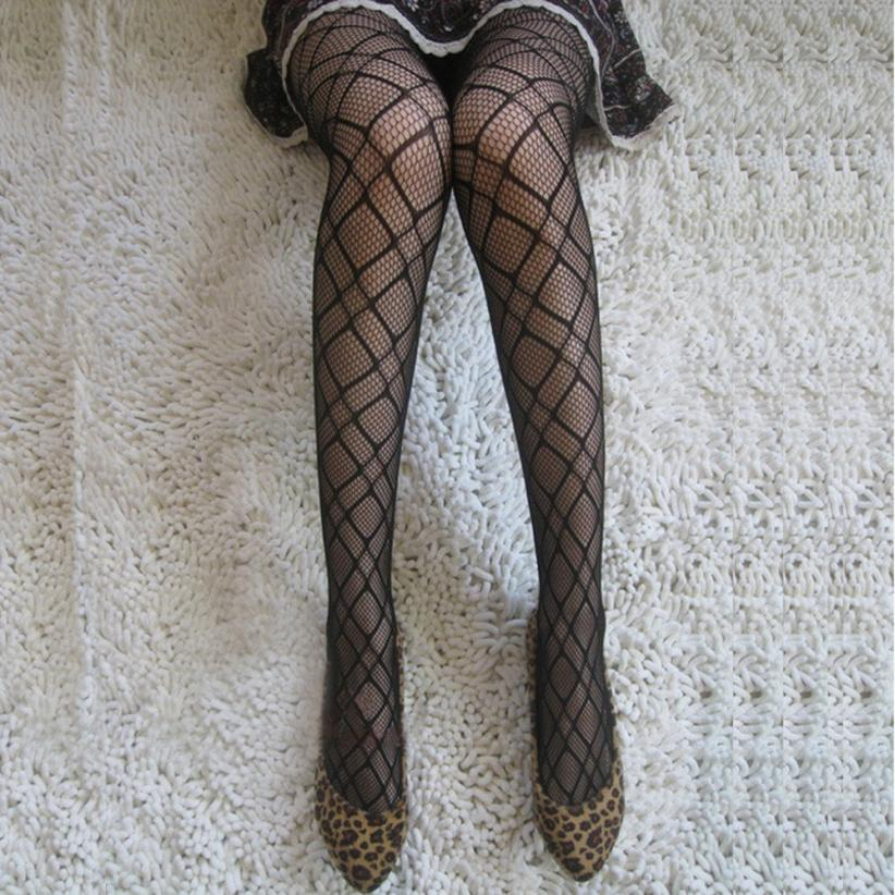 Fashion Womens Net Fishnet Bodystockings Pattern Pantyhose Tights Stockings knee high socks 2018MAR22