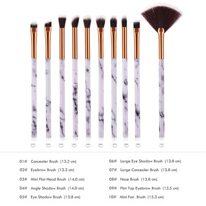Image 5 - 10pcsPromotions marbling texture brushes face foundation powder eyeshadow kabuki eye blending cosmetic marble makeup brush tool