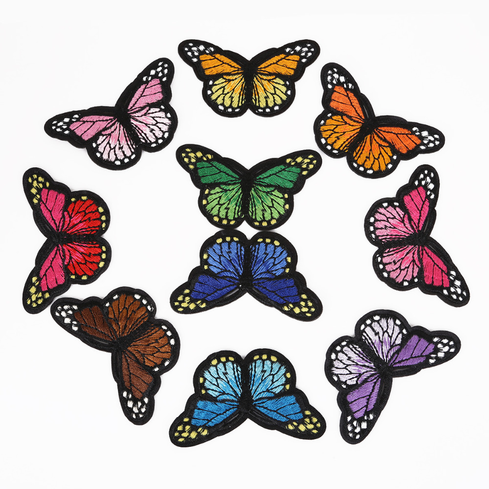 1Pcs/lot Iron On Patches For Clothing Multicolor Butterfly