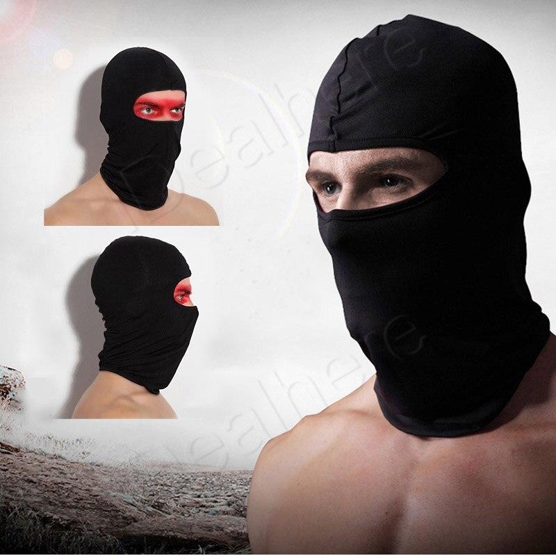 Mayitr New Black Ultra-thin Motorcycle Lycra Ski Full Face Mask Balaclava Cycling Neck Protect Motorcycle Protective Gears